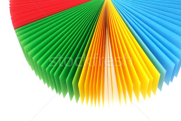 Kolor notatka papieru fan kart na zewnątrz Zdjęcia stock © dezign56