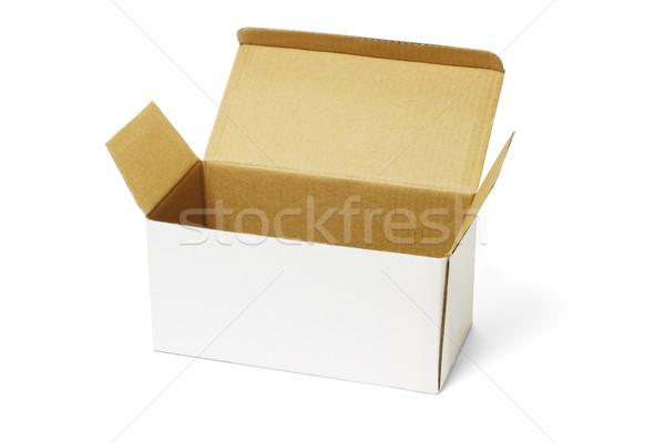 Otwarte biały polu brązowy odizolowany Zdjęcia stock © dezign56