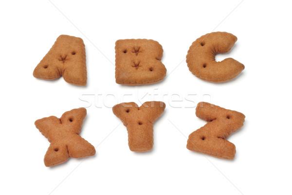 ABC XYZ alphabet chocolate cookies  Stock photo © dezign56