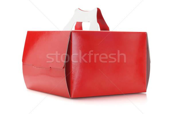 Torta cuadro blanco papel postre entrega Foto stock © dezign56