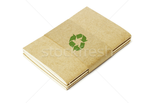 Thread Sew Books with Recycled Symbol Stock photo © dezign56