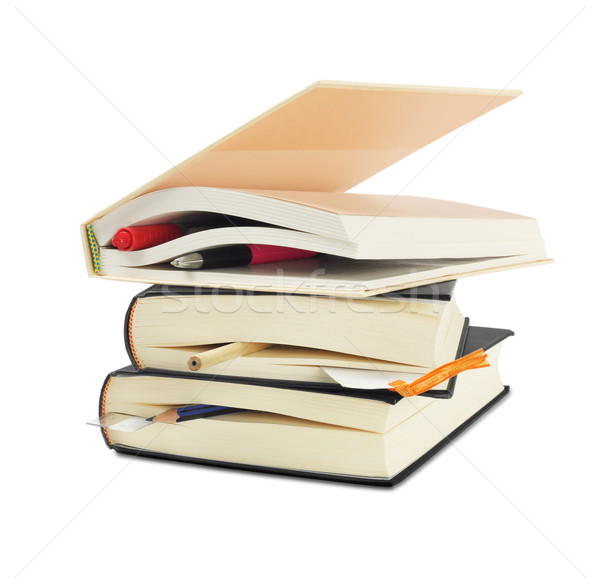 Hardcover Books with Bookmarks Stock photo © dezign56