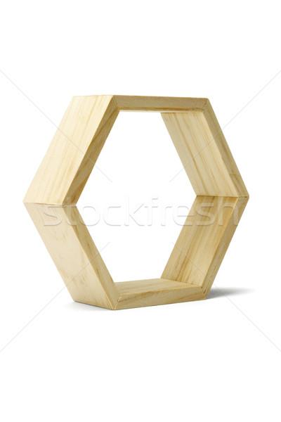 Wooden hexagonal ring  Stock photo © dezign56