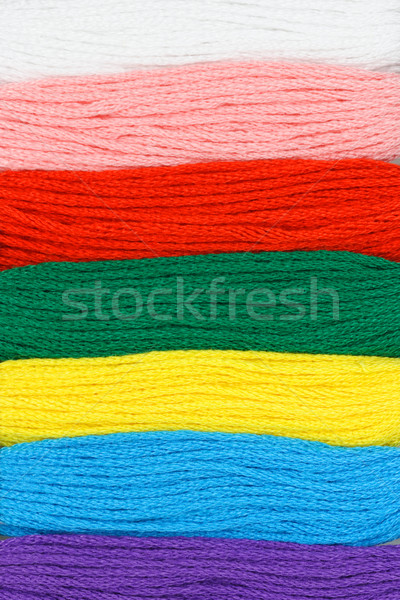 Multicolor embroidery threads background Stock photo © dezign56
