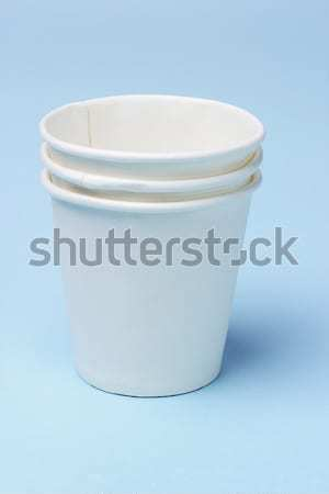 紙 カップ スタック 使い捨て 青 水 ストックフォト © dezign56