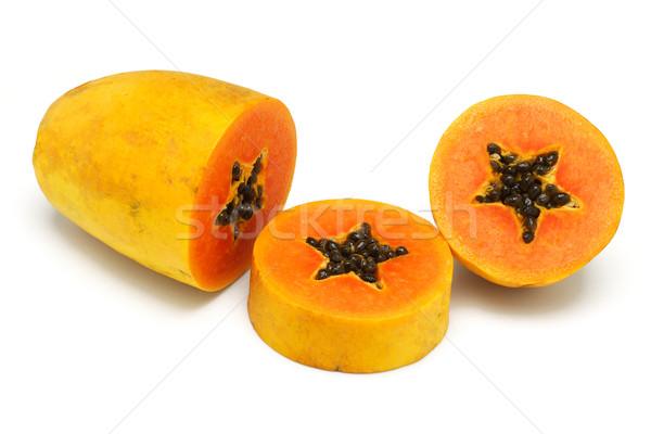 Gesneden omhoog vruchten witte voedsel oranje Stockfoto © dezign56