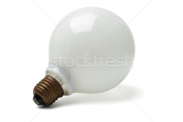 Nagy elektromos villanykörte izolált fehér lámpa Stock fotó © dezign56