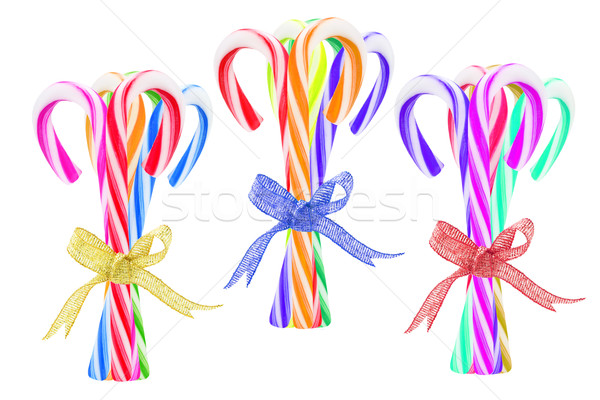Bundles of Colorful Candy Canes  Stock photo © dezign56