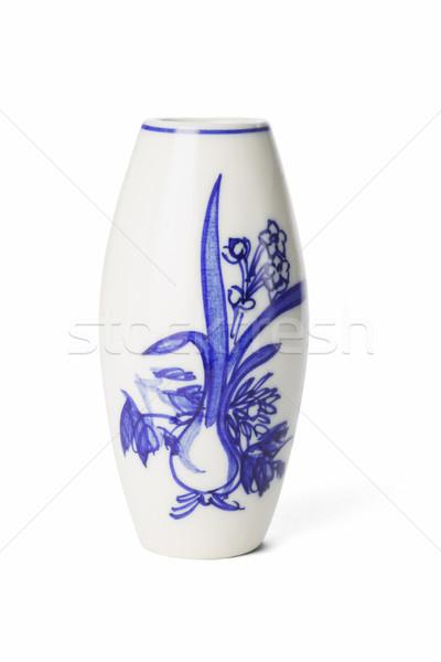 Chinese porselein vaas schilderij witte Stockfoto © dezign56