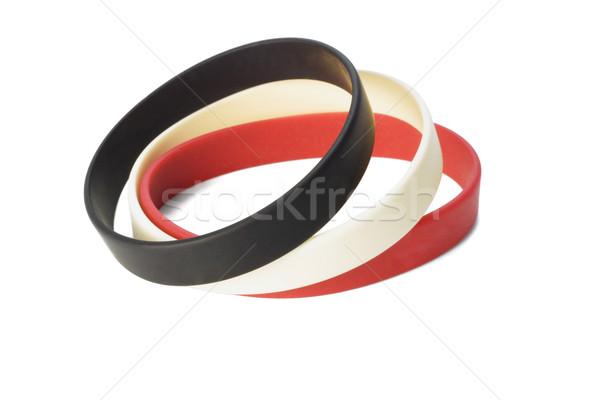 Színes rugalmas csukló divat csoport piros Stock fotó © dezign56