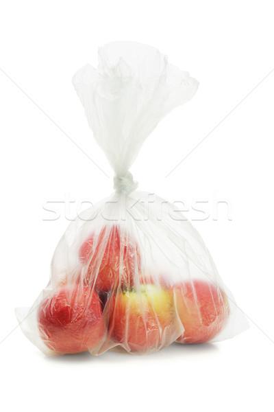 Red apples in plastic bag  Stock photo © dezign56