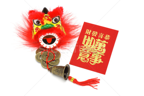 Chineses new year ornaments and red packet Stock photo © dezign56