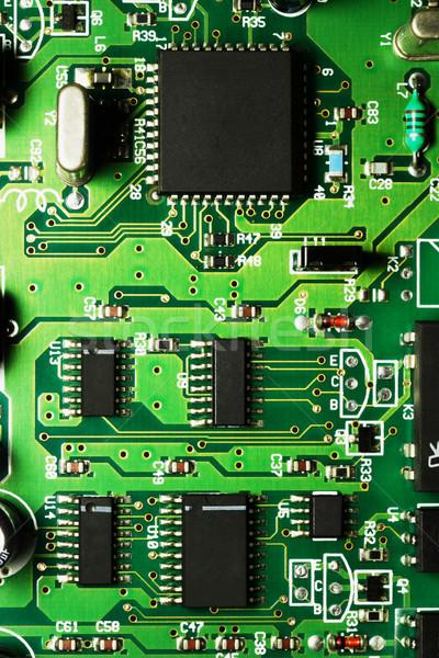 électronique circuit puces ordinateur fond réseau Photo stock © dezign56