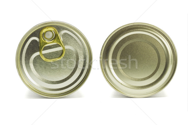 Top and under sides of tin can  Stock photo © dezign56