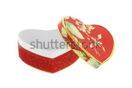 心臓の形態 ギフトボックス バレンタイン 白 背景 ギフト ストックフォト © dezign56