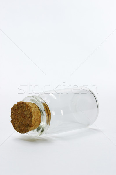 Empty glass bottle with cork stopper  Stock photo © dezign56