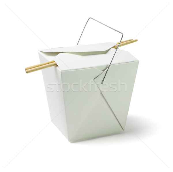 Takeaway Food Container with Chopsticks Stock photo © dezign56