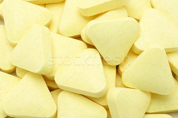 Vitamin citromsárga szín forma textúra csoport Stock fotó © dezign56