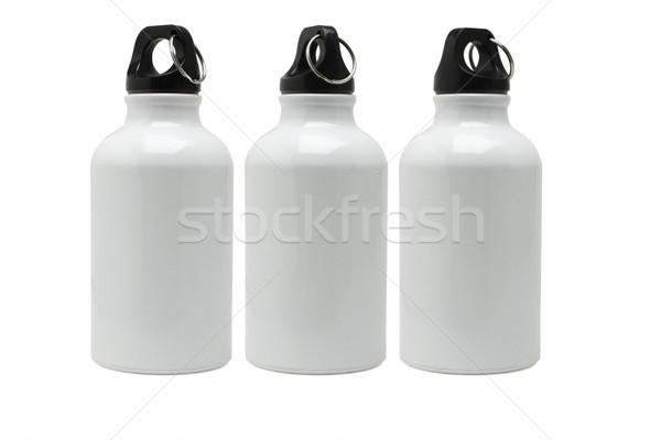 Сток-фото: три · металл · воды · фон · группа