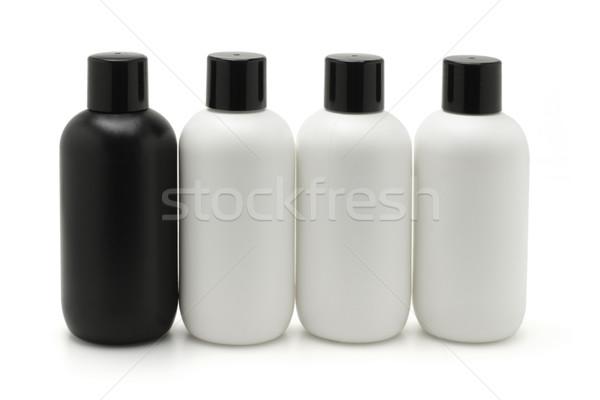 Zwart wit cosmetische lichaam gezondheid schoonheid groep Stockfoto © dezign56