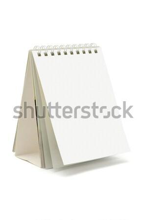 Desktop календаря Постоянный белый объект картона Сток-фото © dezign56