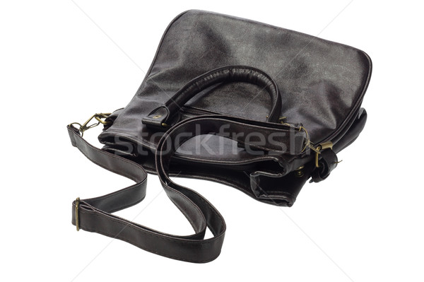 Bőr csúzli táska fehér terv női Stock fotó © dezign56