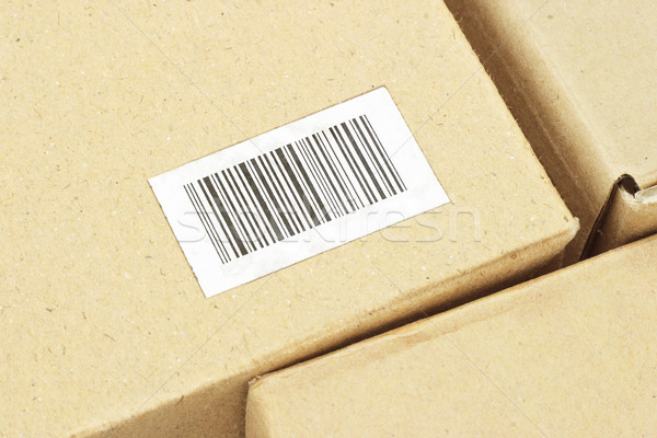 Streepjescode label karton vak textuur Stockfoto © dezign56