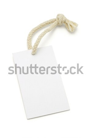 Stock photo: Blank white tag with string