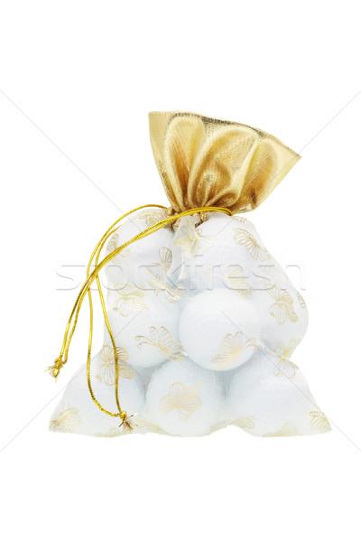 Golf balls in gift sachet Stock photo © dezign56