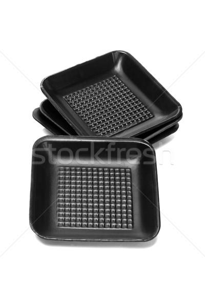 Black Styrofoam Trays  Stock photo © dezign56
