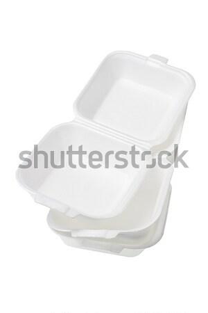 Сток-фото: коробки · открытых · белый · текстуры · продовольствие
