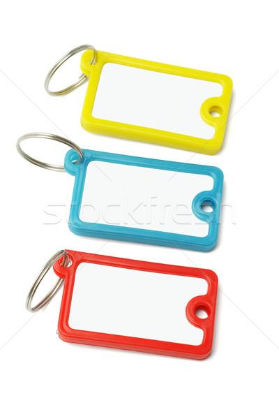 Multicolor plastic key labels  Stock photo © dezign56