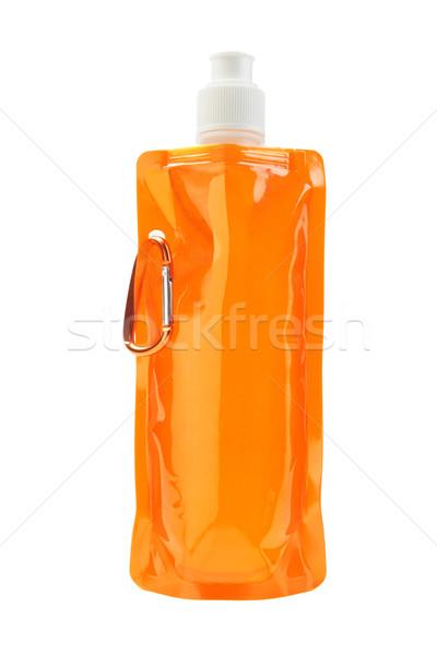 Stockfoto: Plastic · water · zak · oranje · witte · drinken