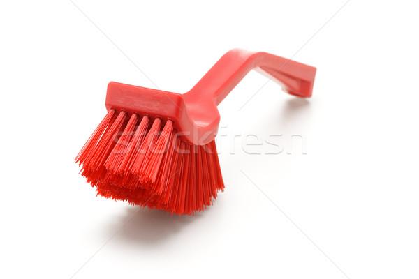 домашнее хозяйство пластиковых щетка красный очистки белый Сток-фото © dezign56