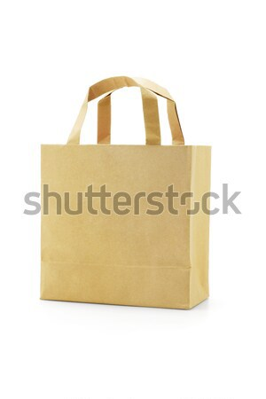 Brown reusable paper bag Stock photo © dezign56