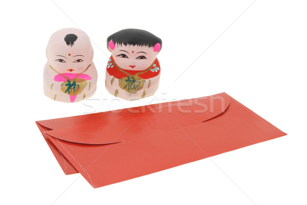 Chinese new year figurines and red packets Stock photo © dezign56