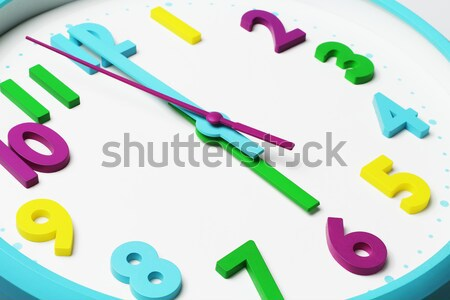 Clockface Showing Noontime Stock photo © dezign56