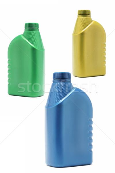 Сток-фото: три · пластиковых · красочный · зеленый · синий · нефть