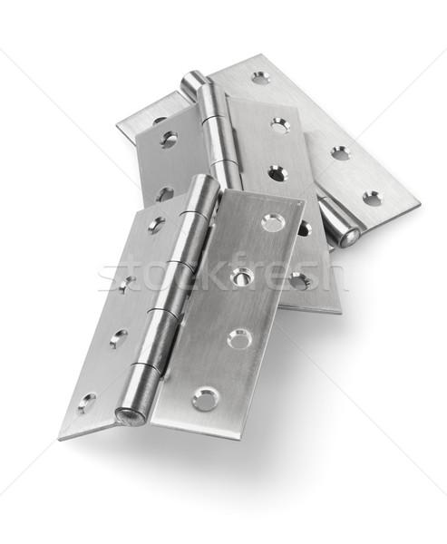 Acier inoxydable porte trois pièces maison construction Photo stock © dezign56