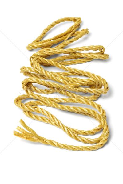 Suelto cuerda fuera blanco textura seguridad Foto stock © dezign56