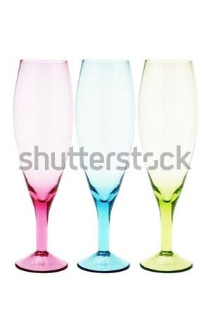 Tres color blanco vino azul Foto stock © dezign56