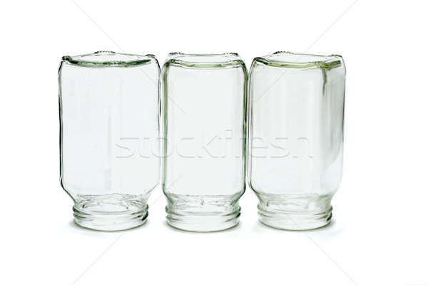 Three inverted glass bottles Stock photo © dezign56