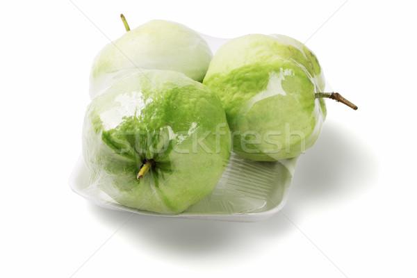 Gyümölcsök három csomagolás fehér film gyümölcs Stock fotó © dezign56