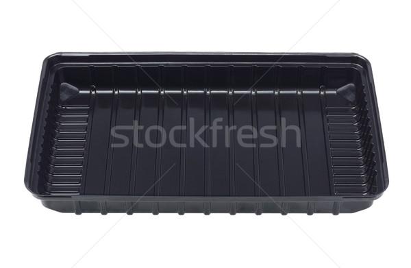 Black Plastic Tray Stock photo © dezign56