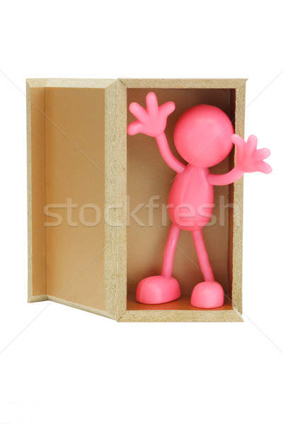 Faceless figurine surprise appearance Stock photo © dezign56