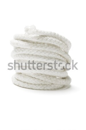 Coil of white rope  Stock photo © dezign56