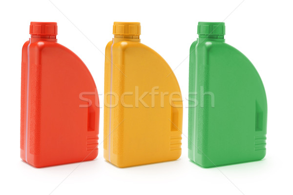 Сток-фото: машинное · масло · три · цвета · белый · зеленый · группа