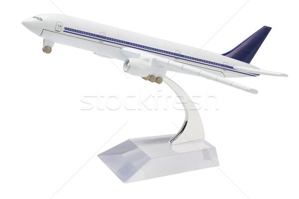 Miniatuur model commerciële reizen lucht vervoer Stockfoto © dezign56