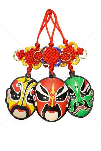 Ano novo chinês tradicional ópera máscara colorido Foto stock © dezign56