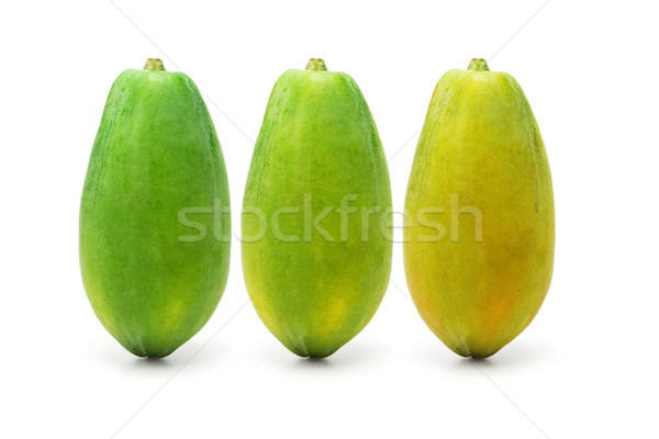 Stock photo: Ripening papaya fruits